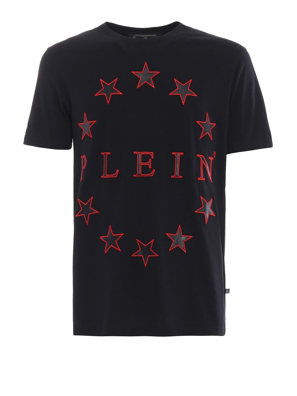 Philipp Plein - Plein multi star pattern black cotton T
