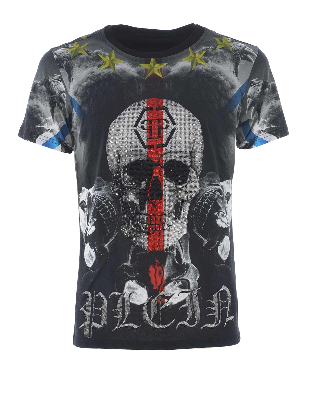 skull print t shirt by philipp plein t shirts ikrix. Black Bedroom Furniture Sets. Home Design Ideas