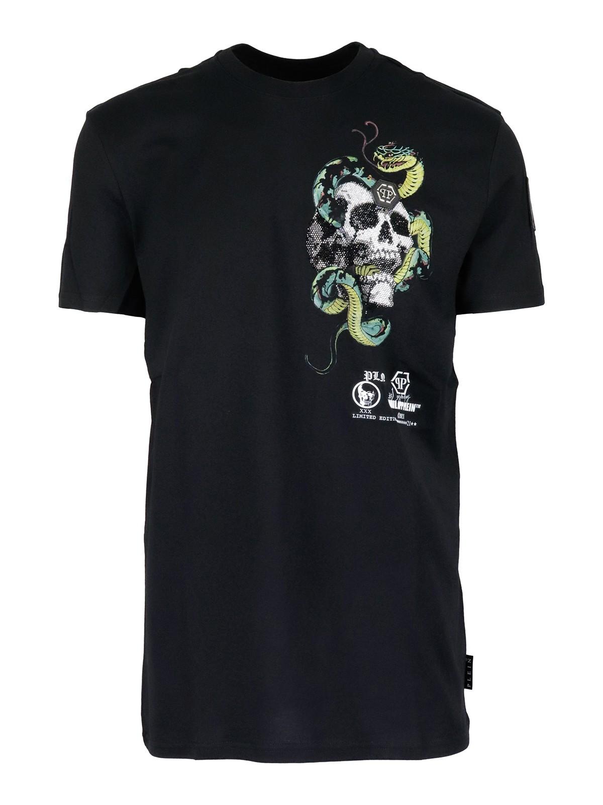 Philipp Plein T-shirts TATTOO SKULL T-SHIRT