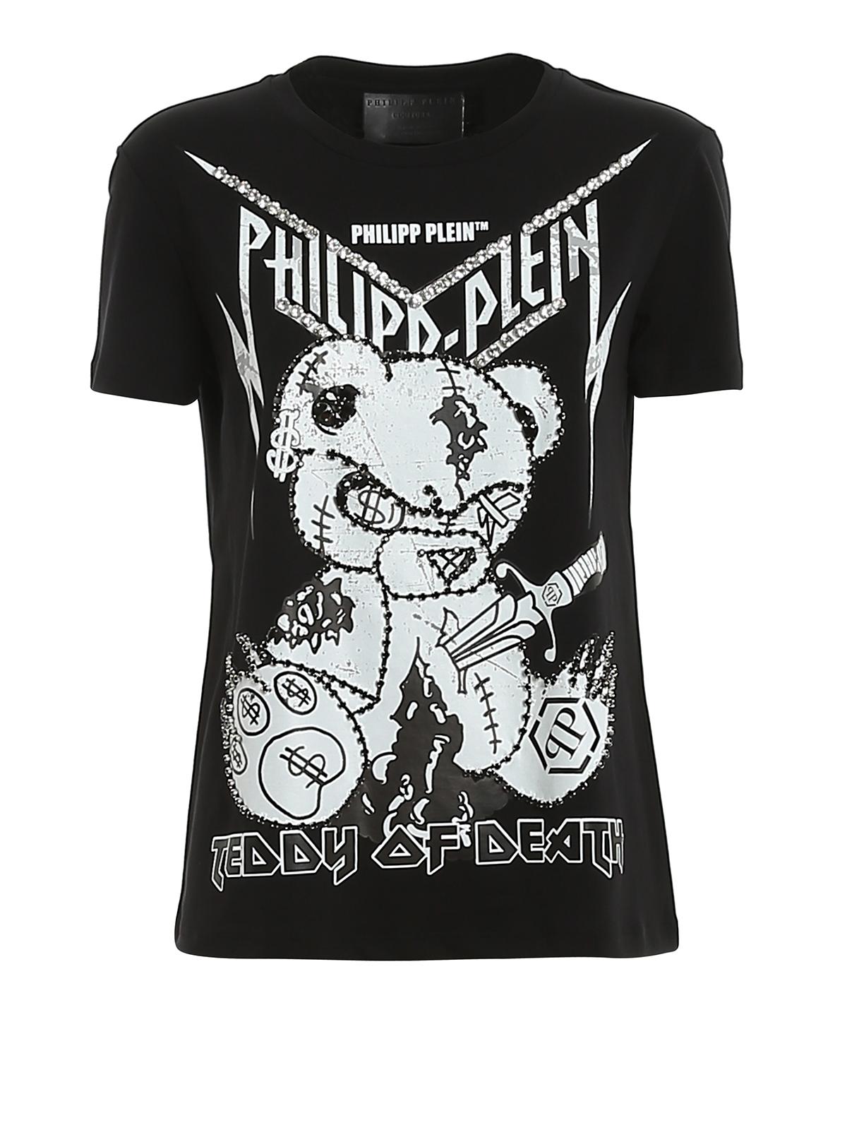 Philipp Plein TEDDY BEAR RHINESTONE T-SHIRT