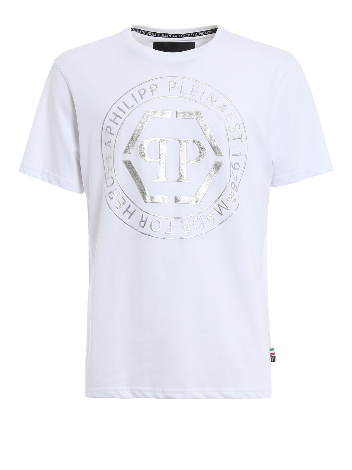 teruyo printed cotton t shirt by philipp plein t shirts ikrix. Black Bedroom Furniture Sets. Home Design Ideas
