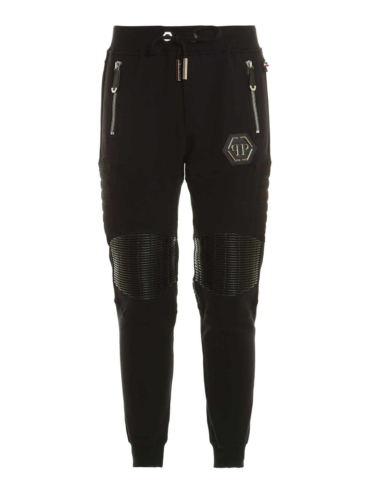 b29c28234cd PHILIPP PLEIN: tracksuit bottoms - Gold card cotton tracksuit bottom