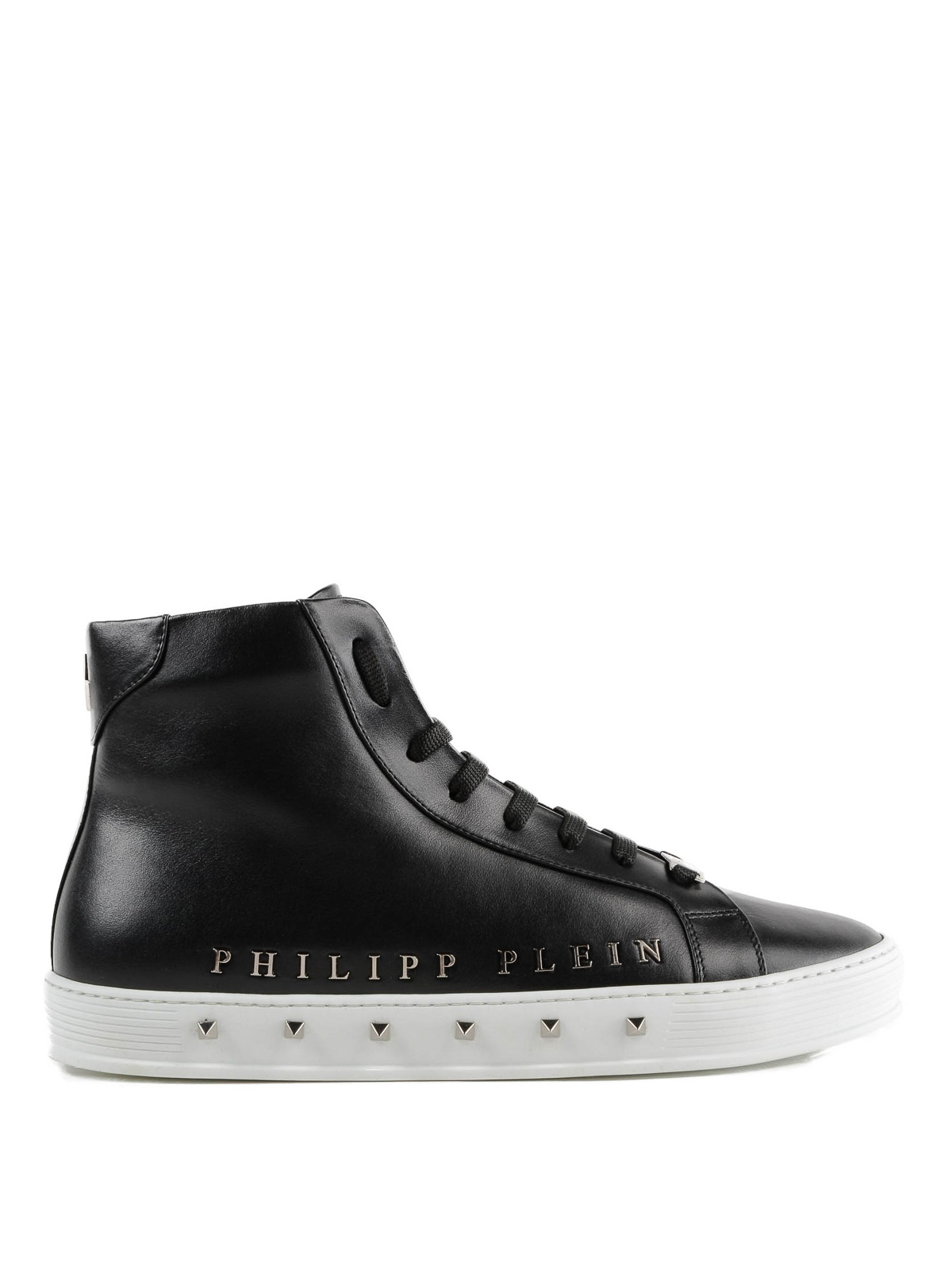f8d69af731c14c Philipp Plein - Sneaker alte nere Good Time in pelle - sneakers ...