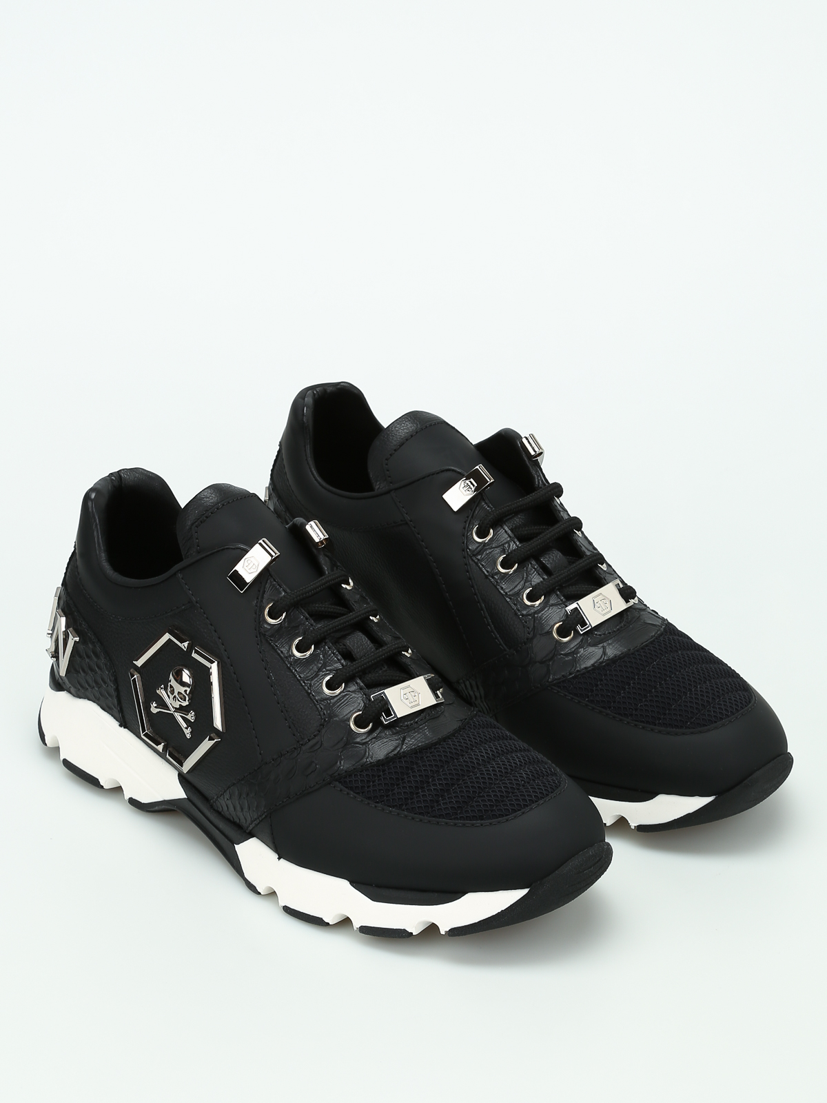 Philipp Plein Leather Trainers Ys4ad1