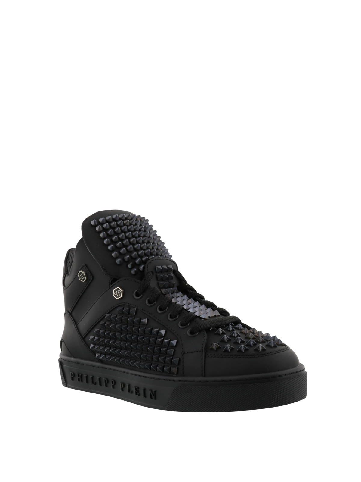 studded high top sneakers - Black Philipp Plein