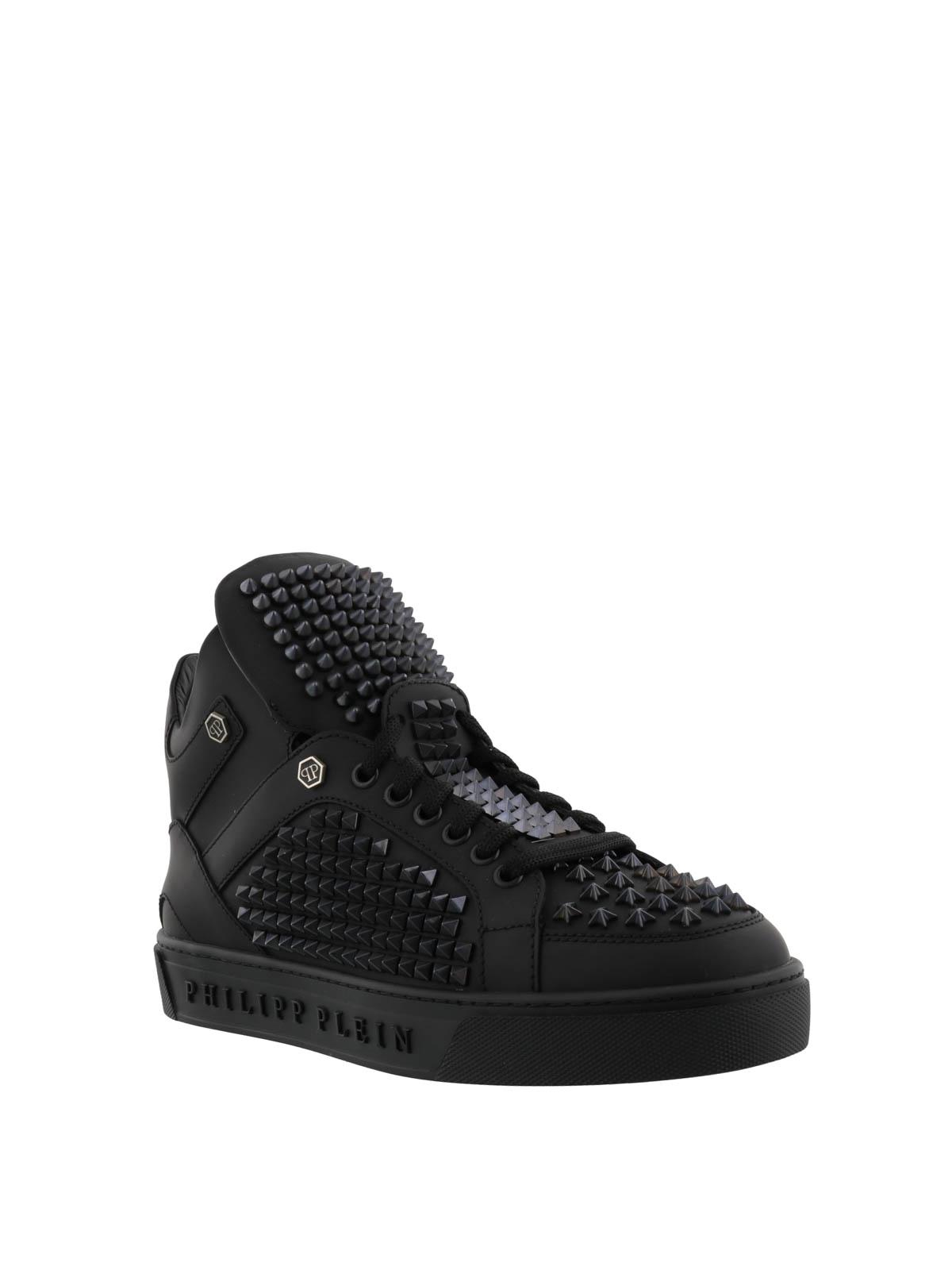 studded high top sneakers - Black Philipp Plein WpO3kxo