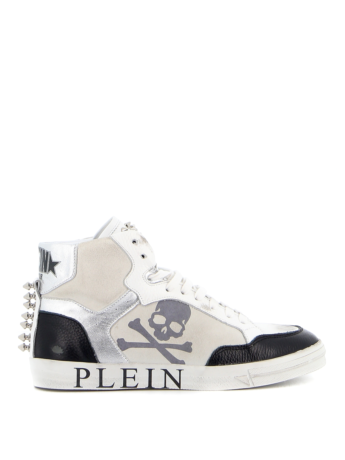 Philipp Plein STAR HI-TOP SNEAKERS