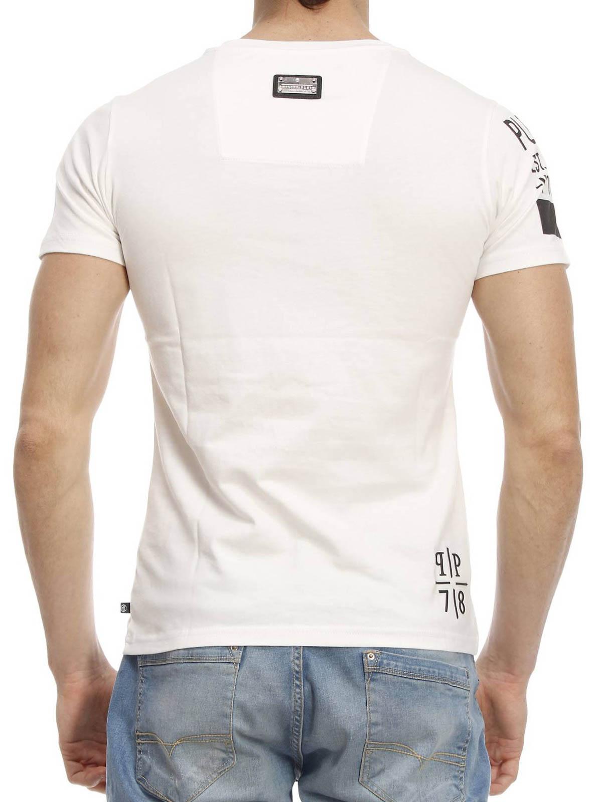 philipp plein philipp t shirt t shirts hm342542 01. Black Bedroom Furniture Sets. Home Design Ideas