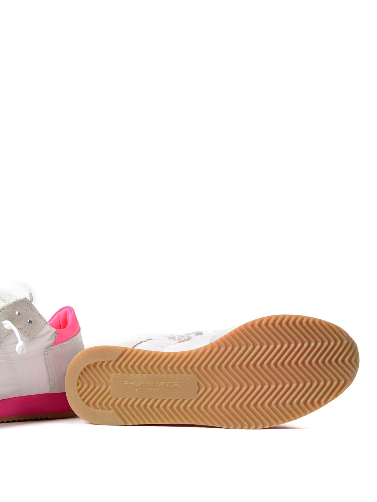 Tropez neon suede sneakersPhilippe Model mj08fVo