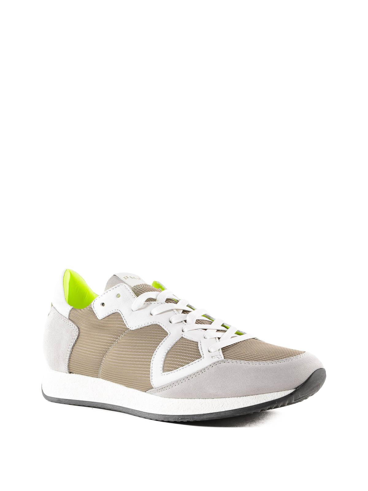 92d9e458be919 PHILIPPE MODEL  sneakers online - Sneaker Monaco beige in tessuto e camoscio