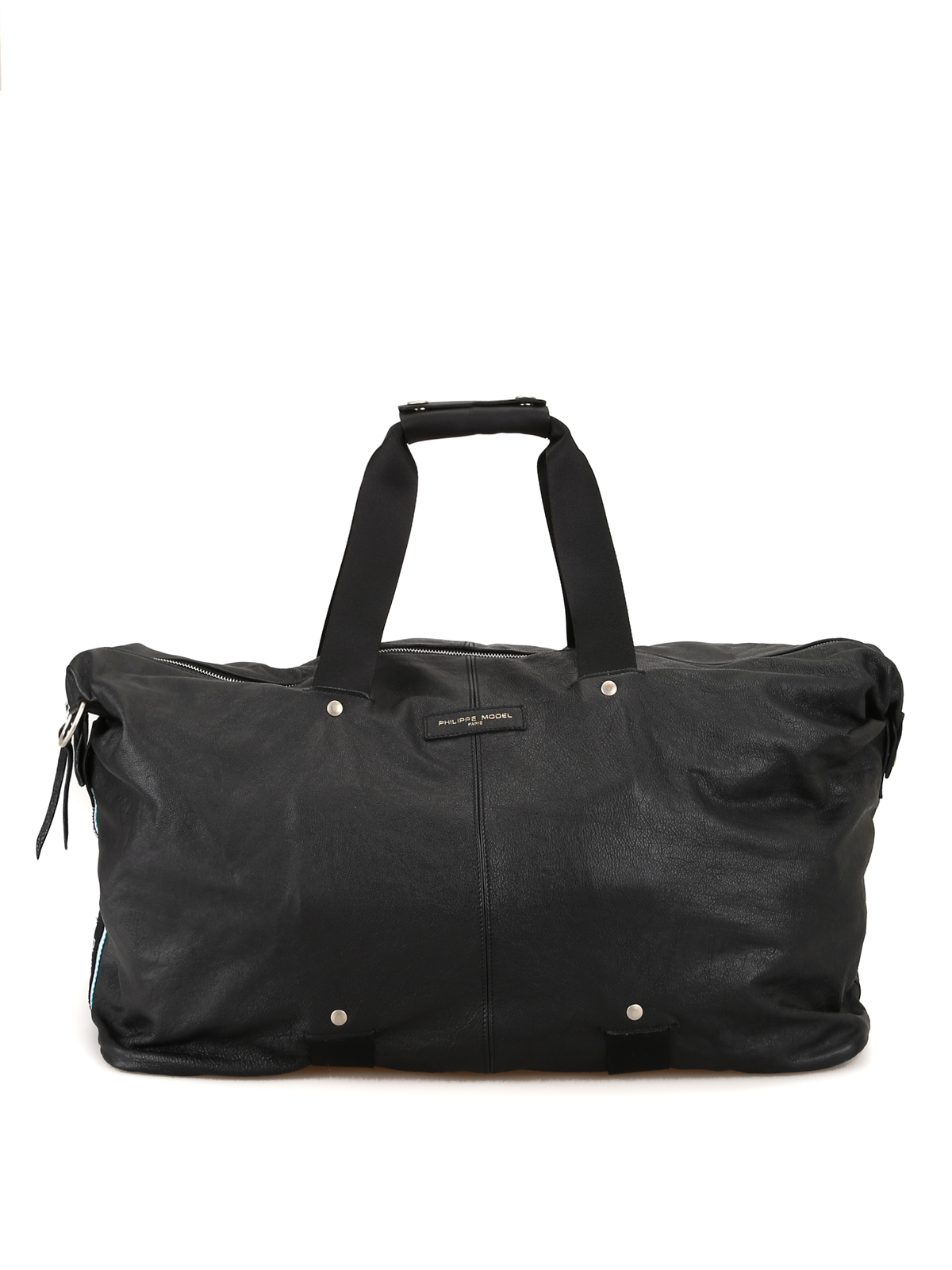 Philippe Model Charlotte Leather Gym Bag In Black