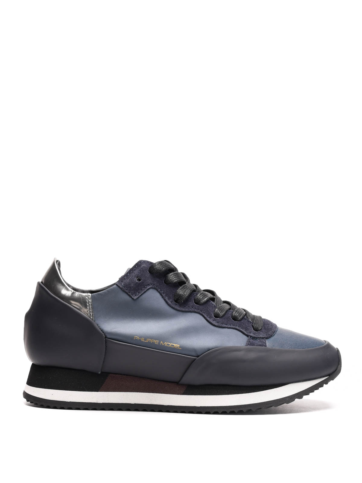 chamonix low top leather sneakers by philippe model trainers ikrix. Black Bedroom Furniture Sets. Home Design Ideas