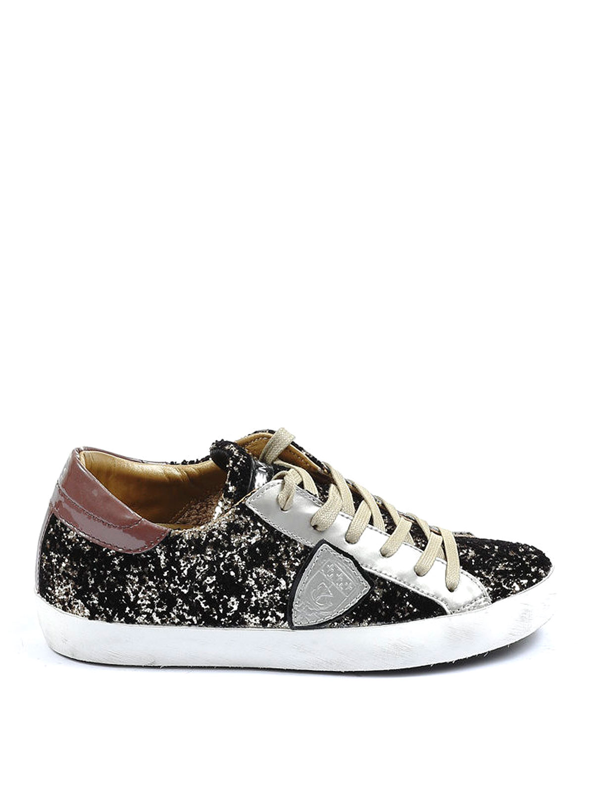 classic glitter leather sneakers by philippe model trainers ikrix. Black Bedroom Furniture Sets. Home Design Ideas