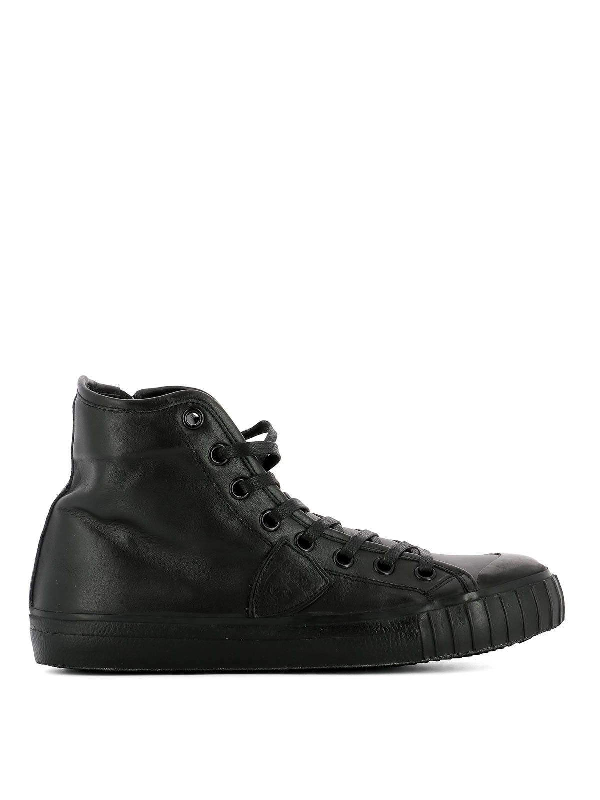 gare high top leather sneakers by philippe model trainers ikrix. Black Bedroom Furniture Sets. Home Design Ideas