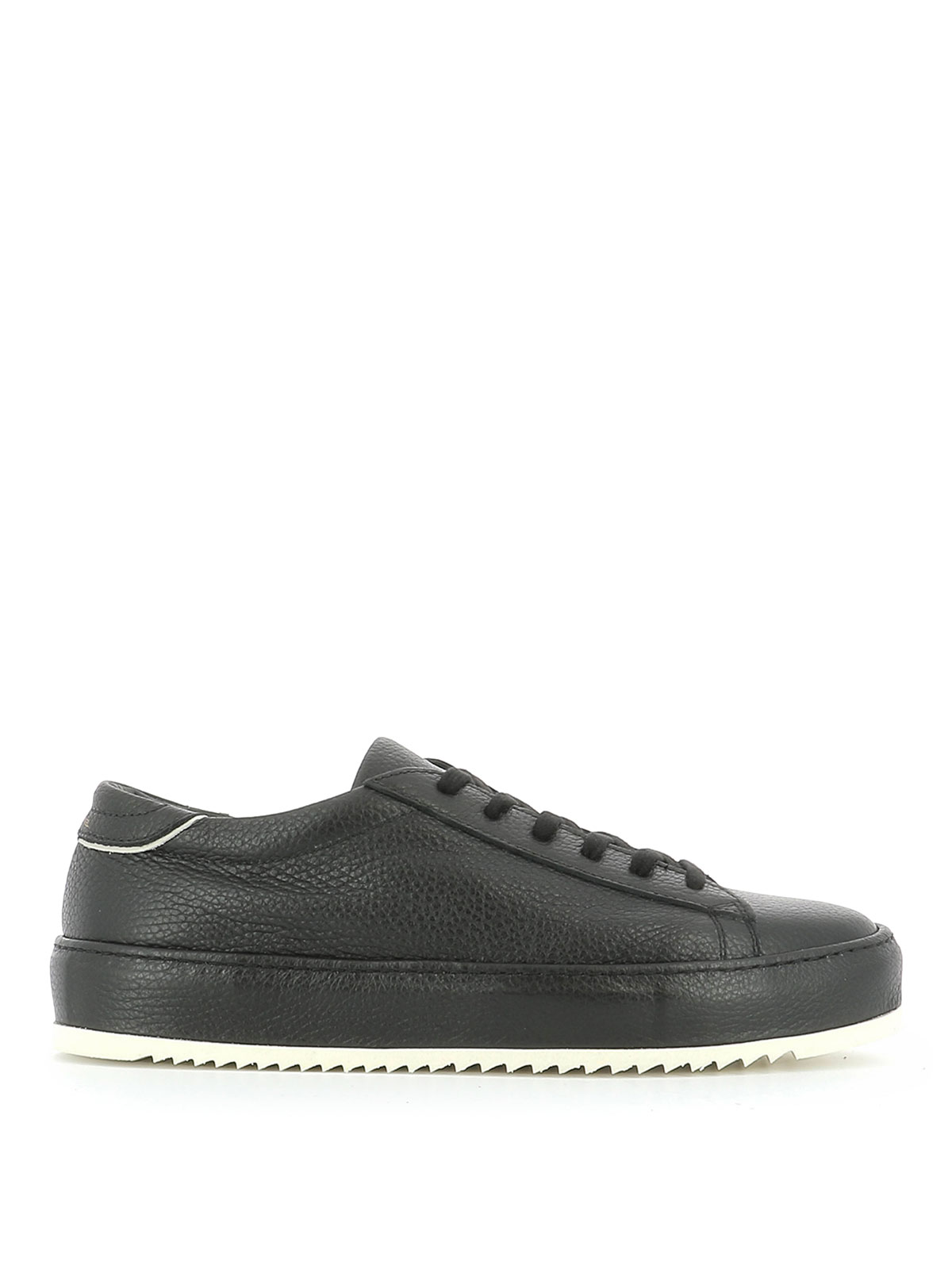 grained leather sneakers by philippe model trainers ikrix. Black Bedroom Furniture Sets. Home Design Ideas