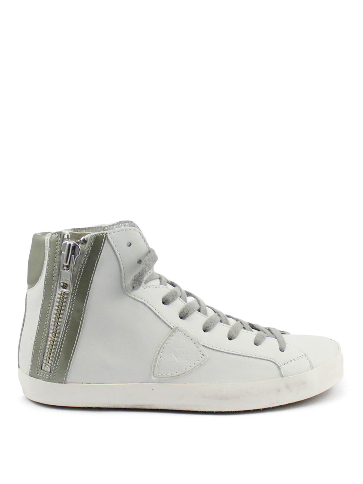 high top calf leather sneakers by philippe model trainers ikrix. Black Bedroom Furniture Sets. Home Design Ideas