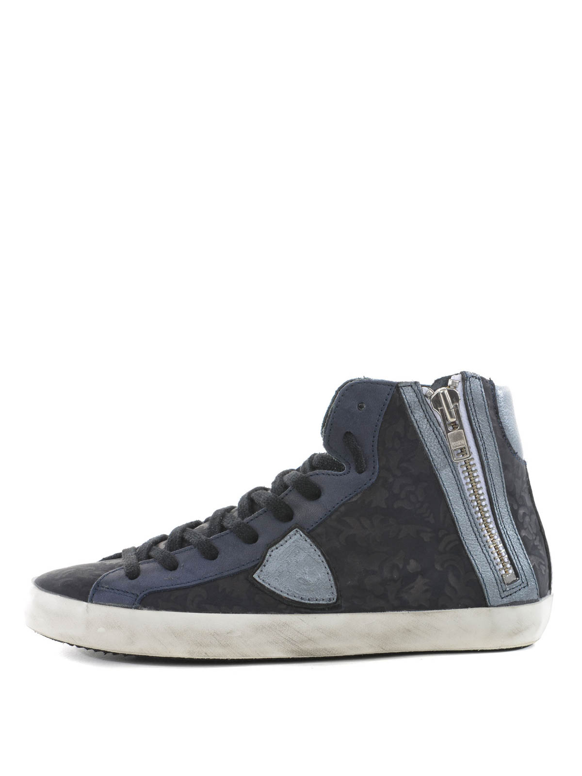 high top leather sneakers by philippe model trainers ikrix. Black Bedroom Furniture Sets. Home Design Ideas