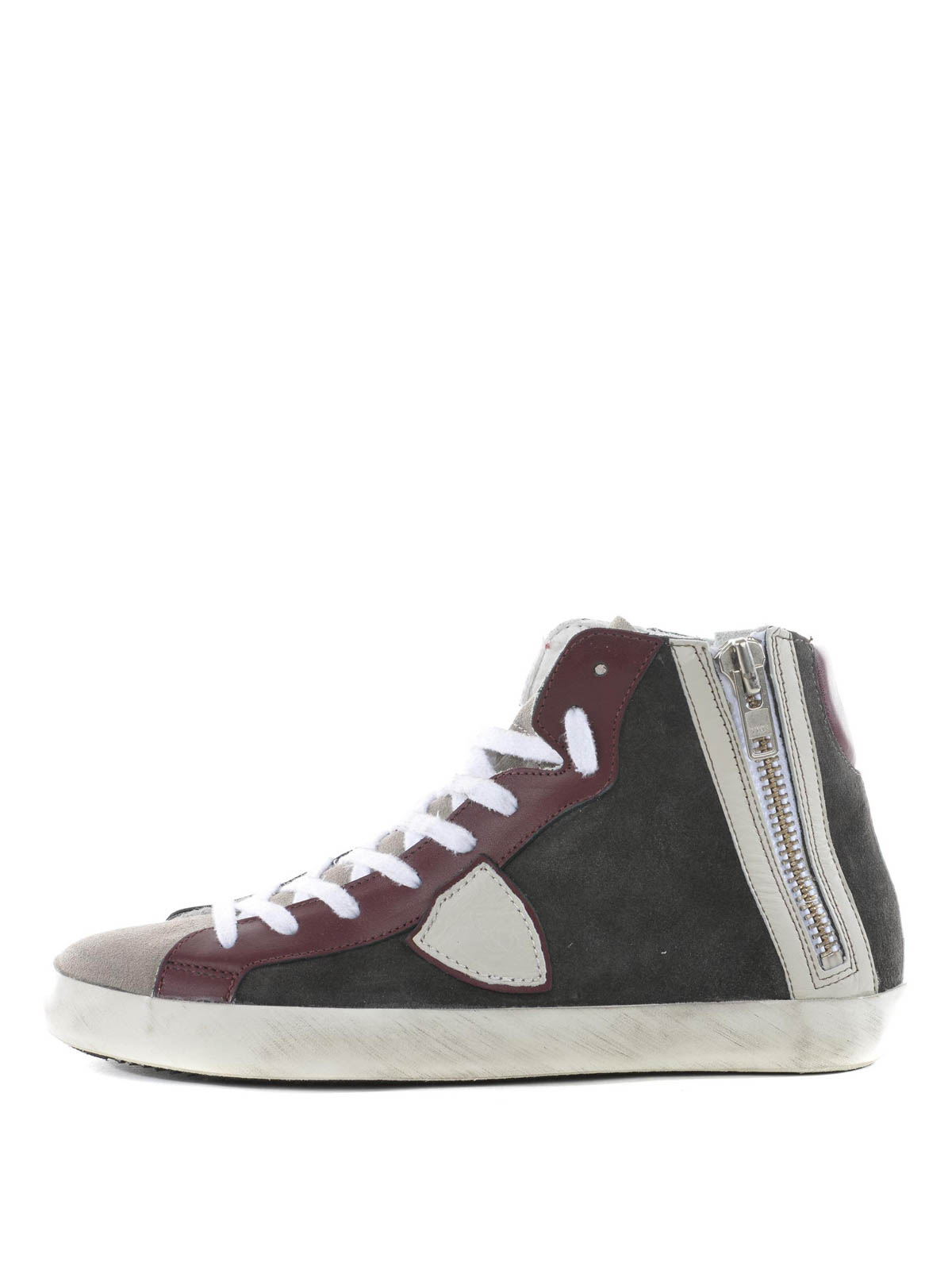 high top suede sneakers by philippe model trainers ikrix. Black Bedroom Furniture Sets. Home Design Ideas