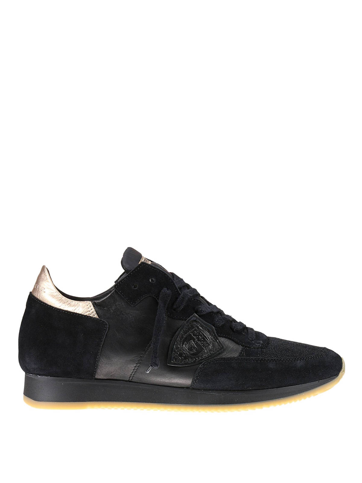 leather and suede tropez sneaker by philippe model trainers ikrix. Black Bedroom Furniture Sets. Home Design Ideas