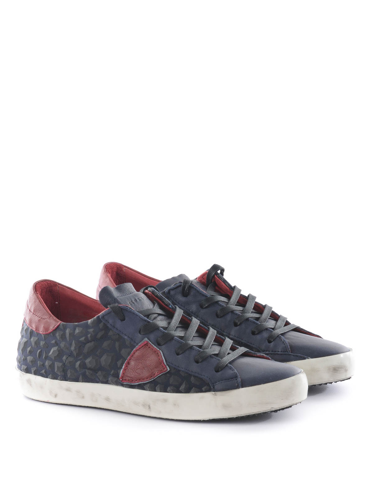 low top leather sneakers by philippe model trainers ikrix. Black Bedroom Furniture Sets. Home Design Ideas