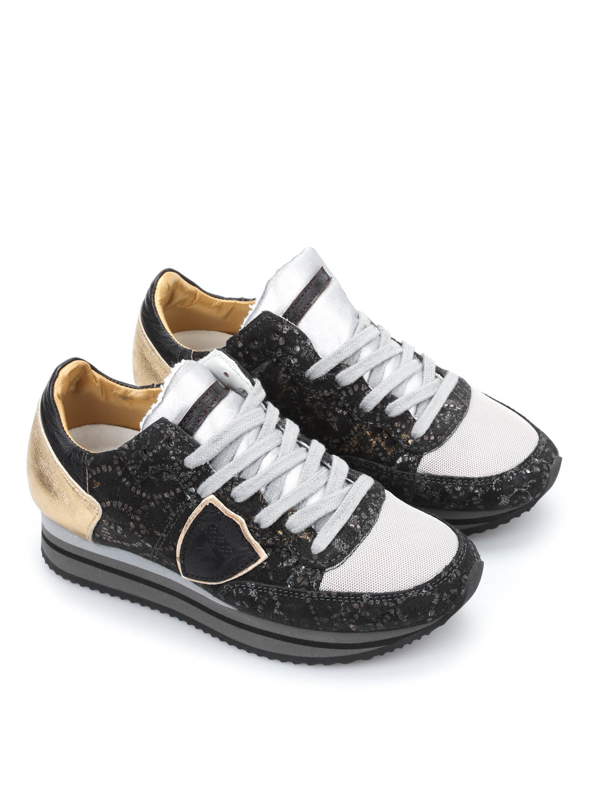 philippe model low top tropez sneakers with wedge trainers thld pp01 36. Black Bedroom Furniture Sets. Home Design Ideas