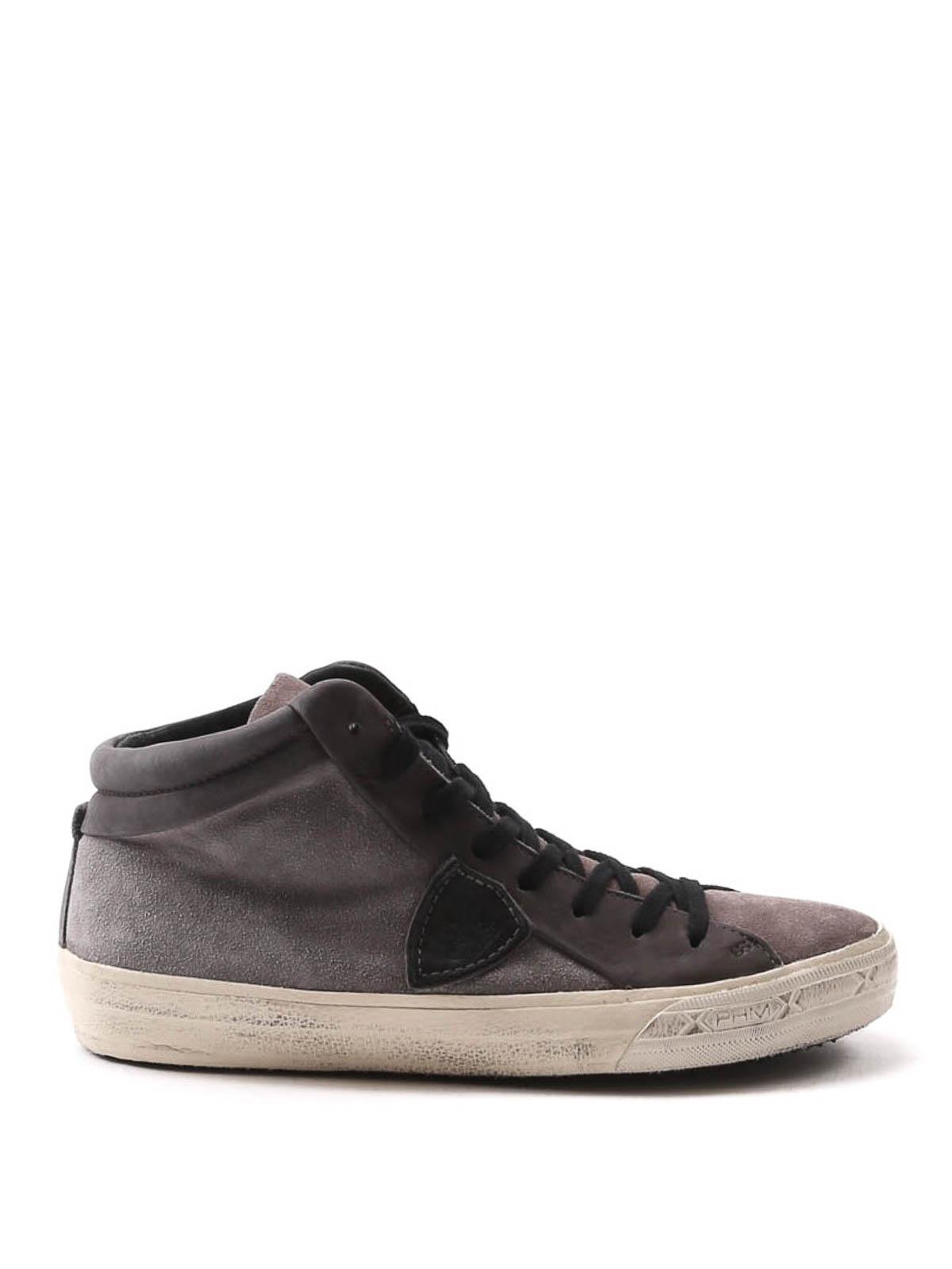 sneaker mid top scamosciate philippe model sneakers ikrix. Black Bedroom Furniture Sets. Home Design Ideas