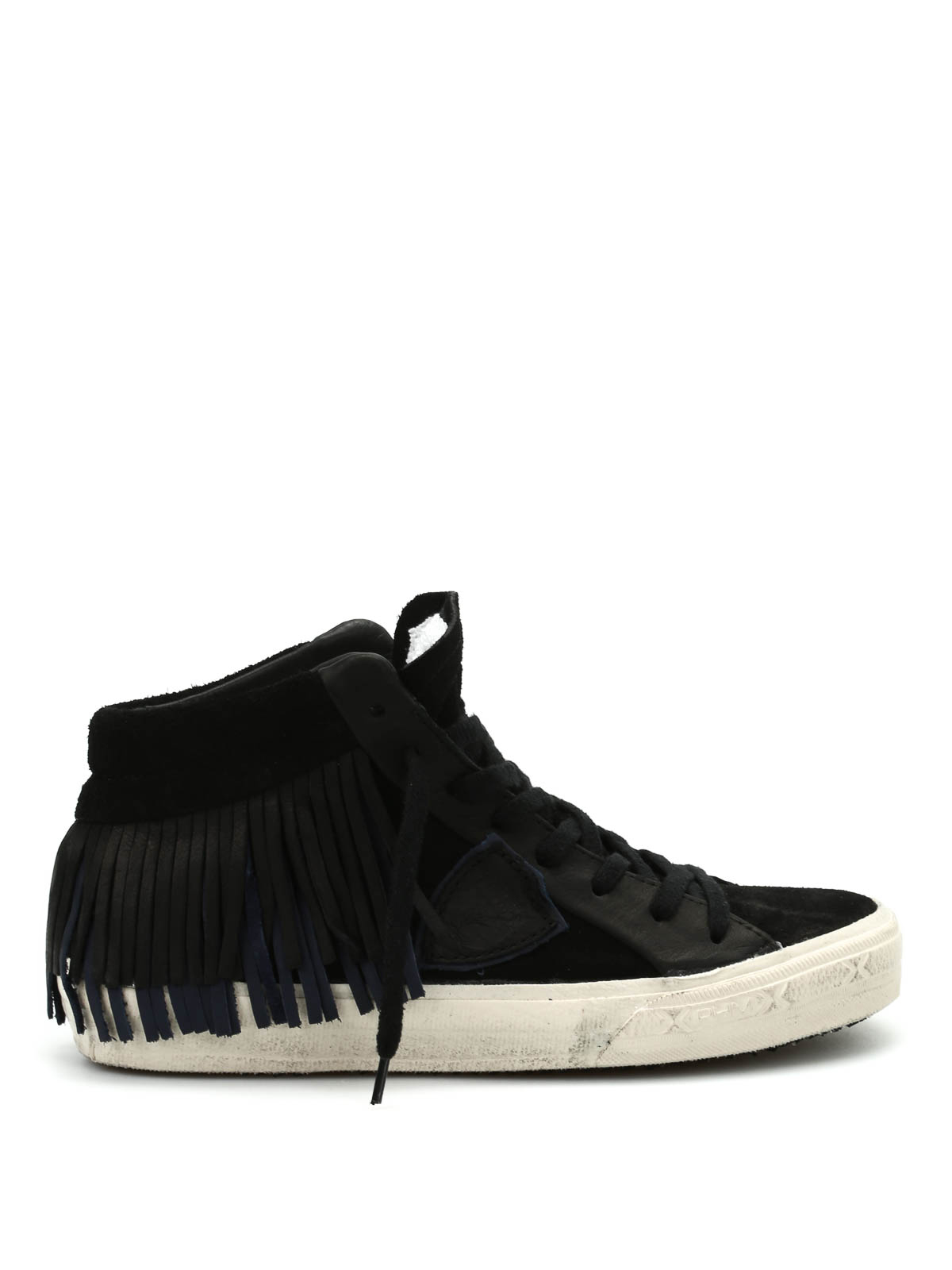middle high fringed sneakers by philippe model trainers ikrix. Black Bedroom Furniture Sets. Home Design Ideas