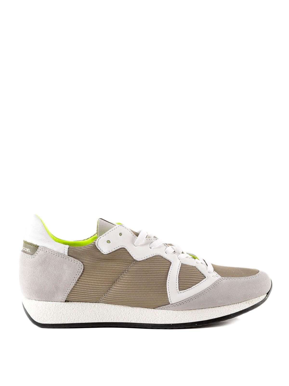 c91bb8e376ead PHILIPPE MODEL  sneakers - Sneaker Monaco beige in tessuto e camoscio