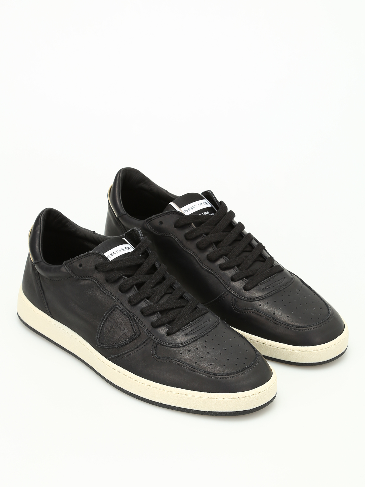 Philippe model Lakers Leather Low-Top Sneakers 0DttMBR