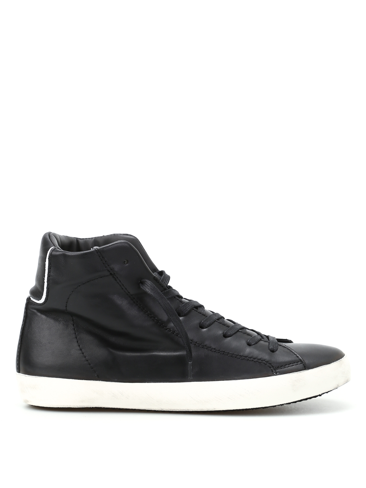 paris black high top sneakers by philippe model trainers ikrix. Black Bedroom Furniture Sets. Home Design Ideas