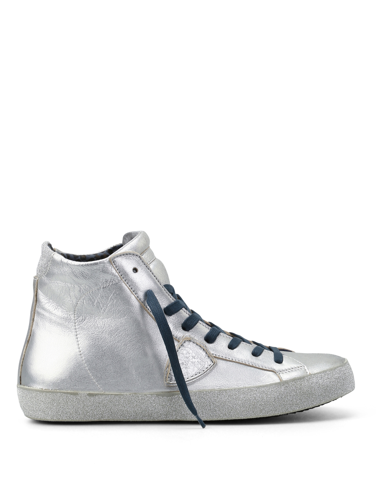 paris glitter high top sneakers by philippe model trainers ikrix. Black Bedroom Furniture Sets. Home Design Ideas