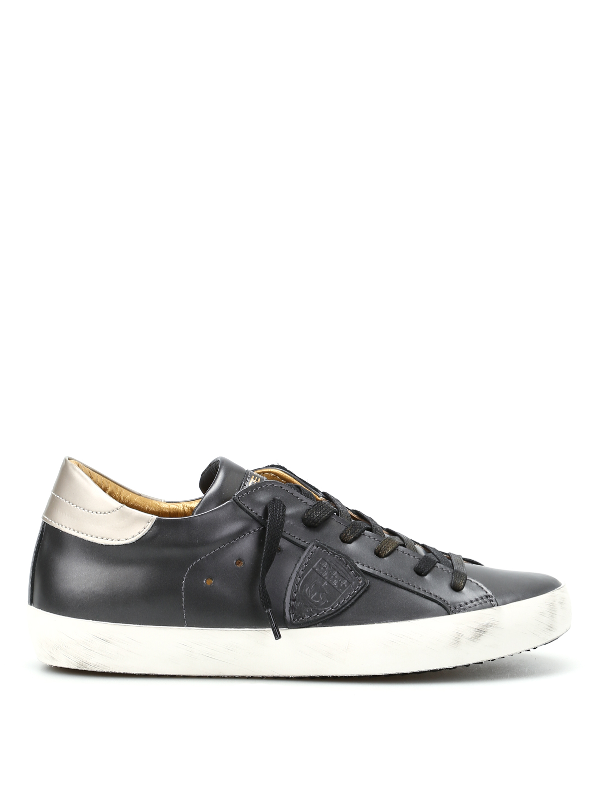 paris metal leather sneakers by philippe model trainers ikrix. Black Bedroom Furniture Sets. Home Design Ideas