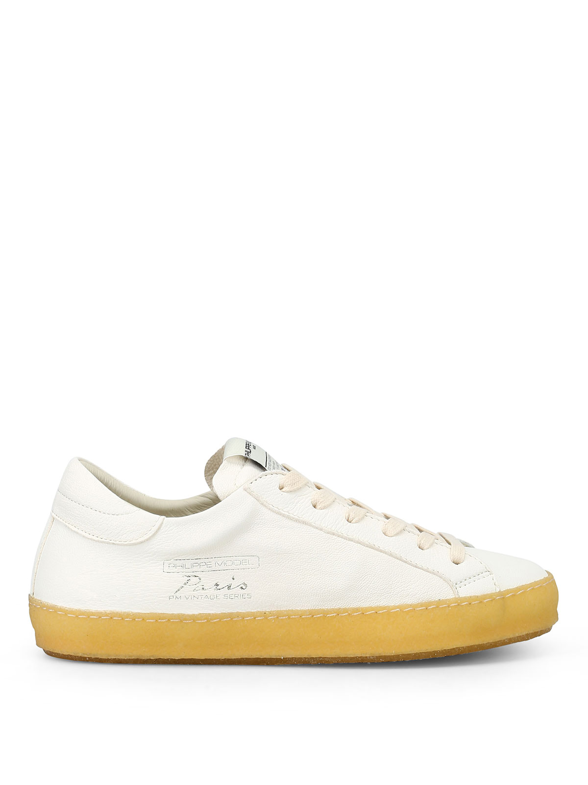 Paris Vintage white soft leather