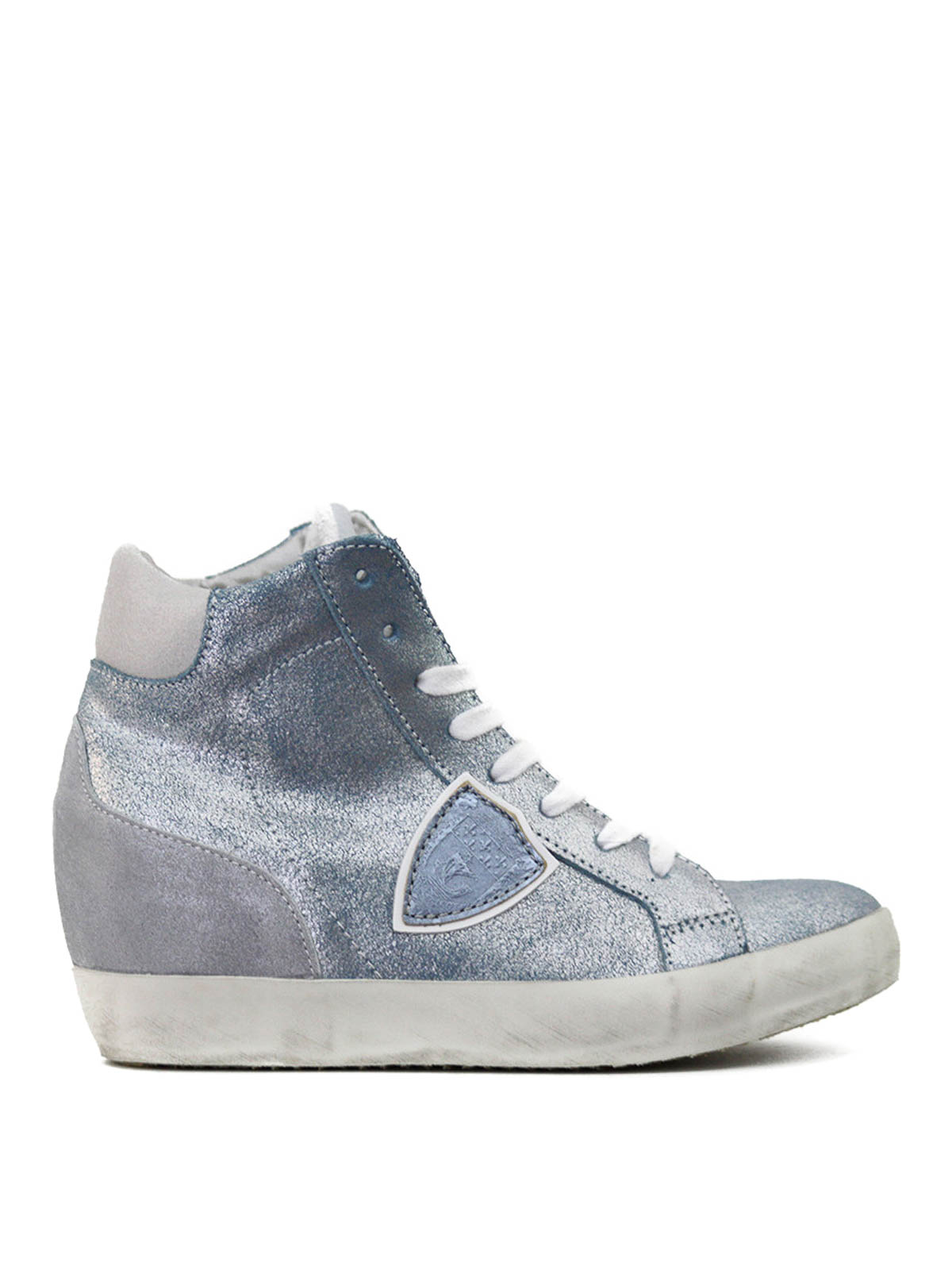 pian suede and glitter sneakers by philippe model trainers ikrix. Black Bedroom Furniture Sets. Home Design Ideas