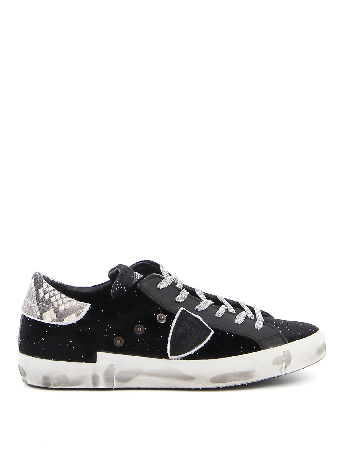 Philippe Model PRSX GLITTER VELVET SNEAKERS