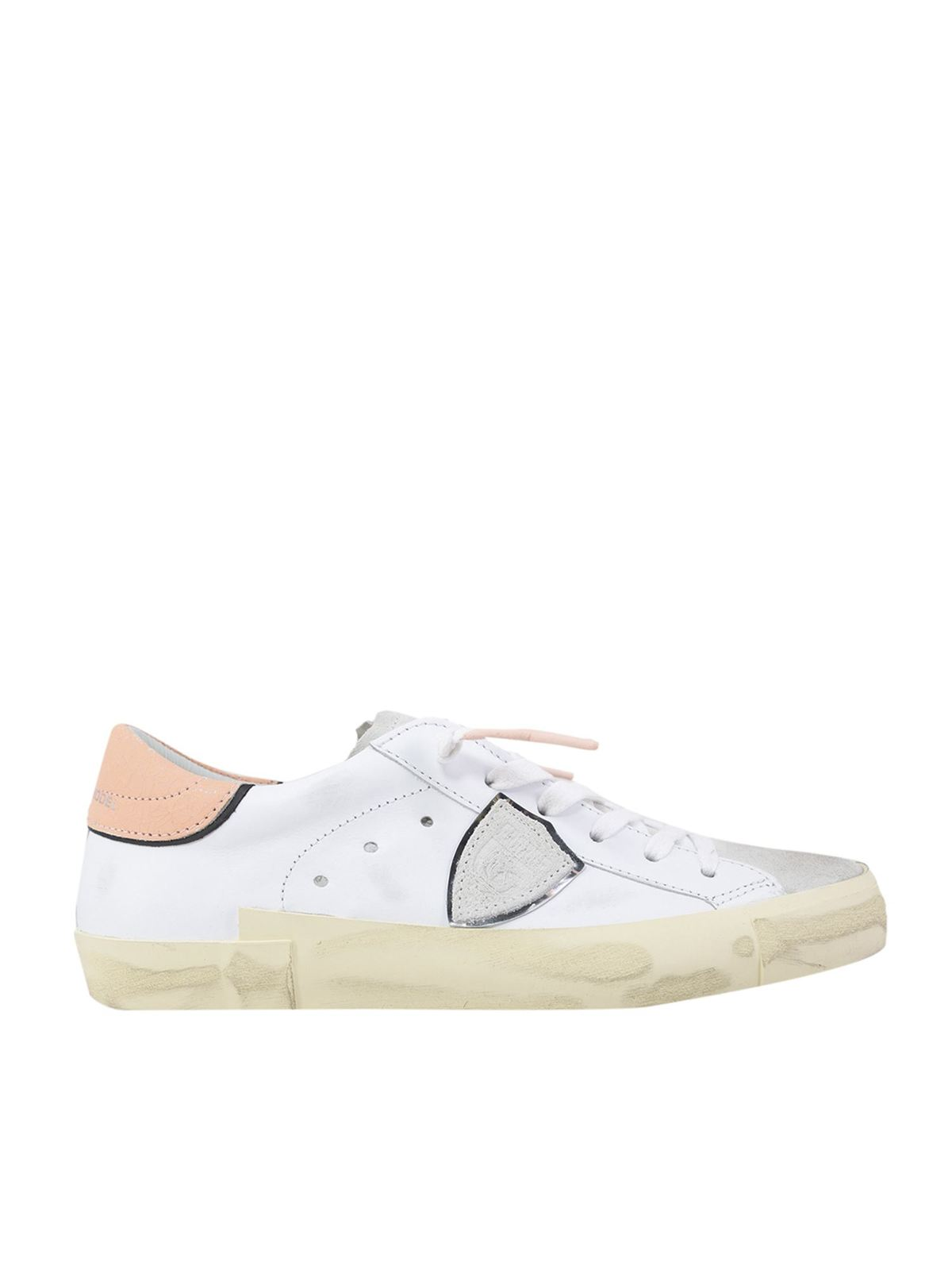 Philippe Model Low tops PRSX LOW SNEAKERS IN WHITE AND PINK