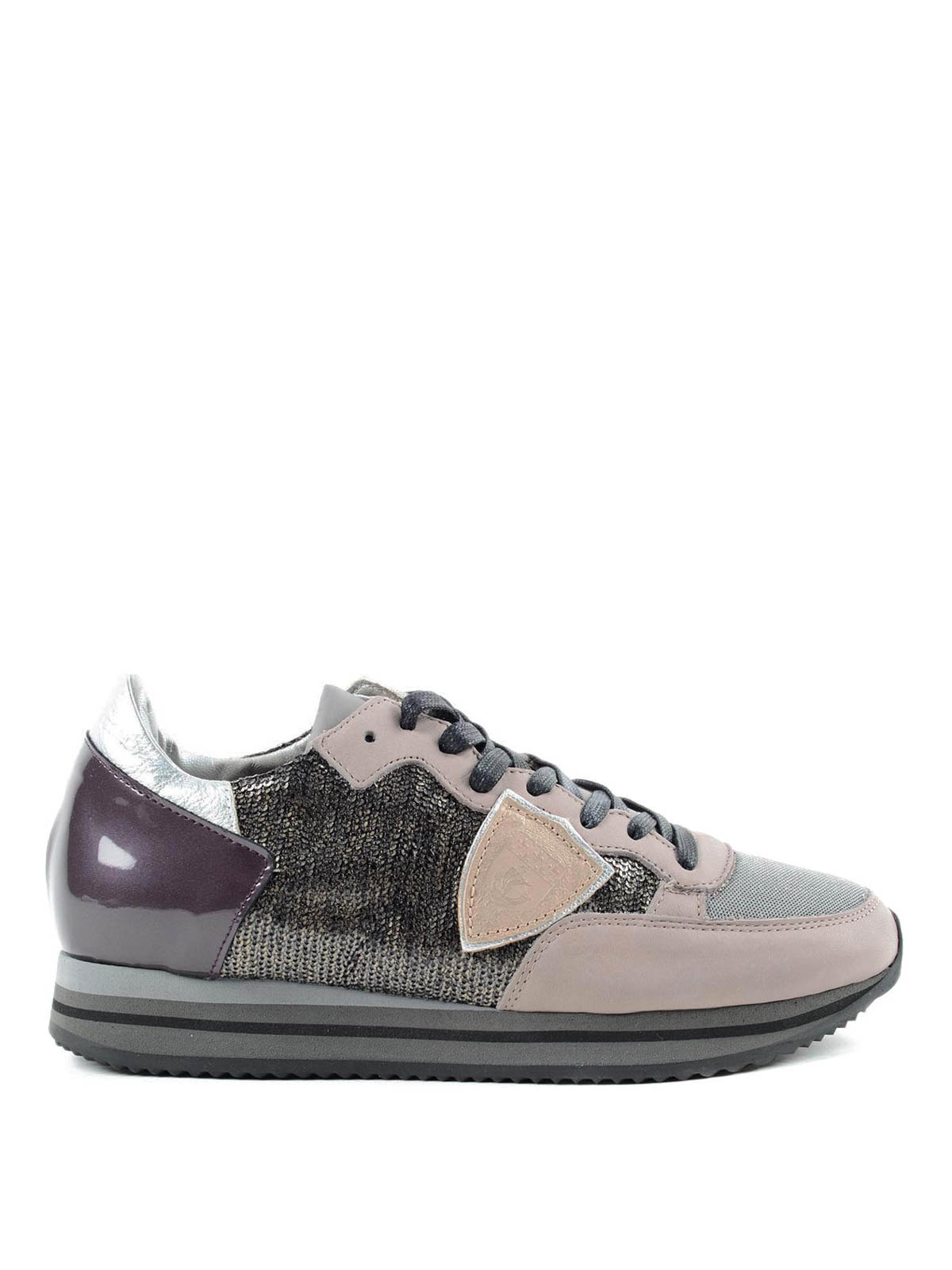 sequined multicolour sneakers by philippe model trainers ikrix. Black Bedroom Furniture Sets. Home Design Ideas
