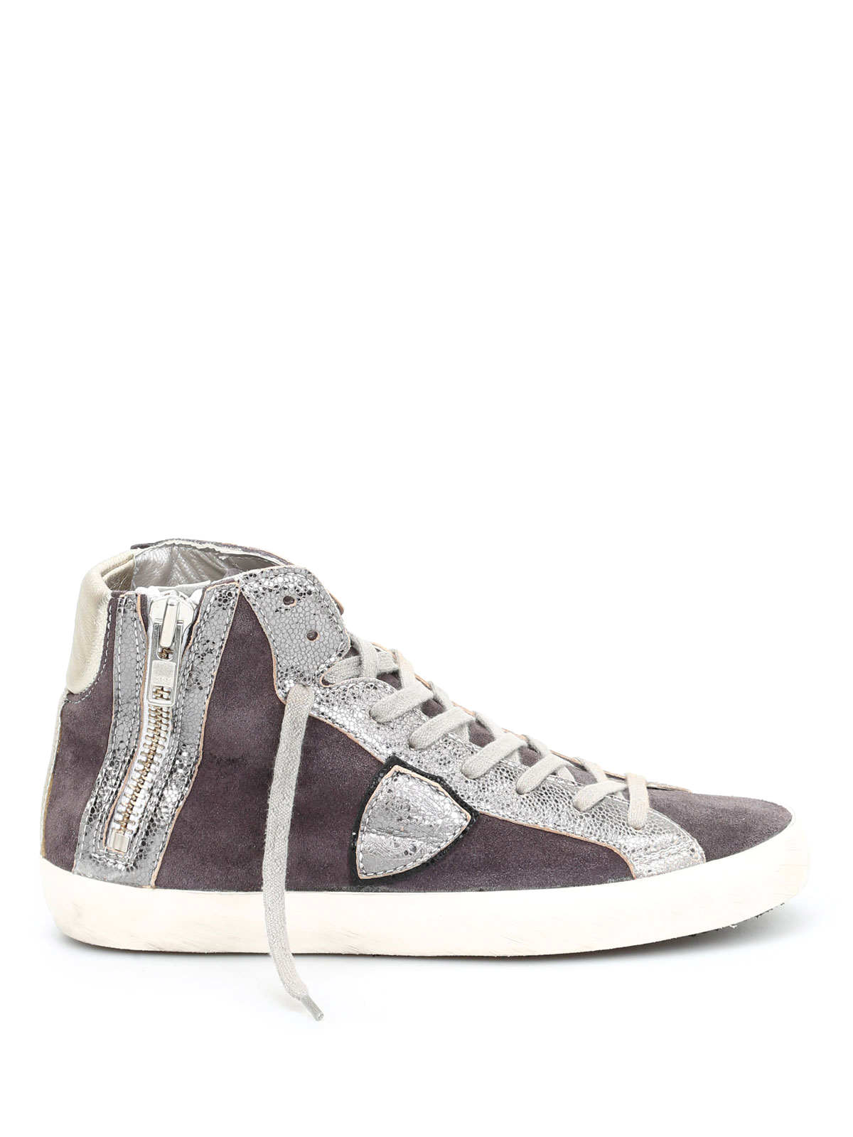 suede high top sneakers by philippe model trainers ikrix. Black Bedroom Furniture Sets. Home Design Ideas