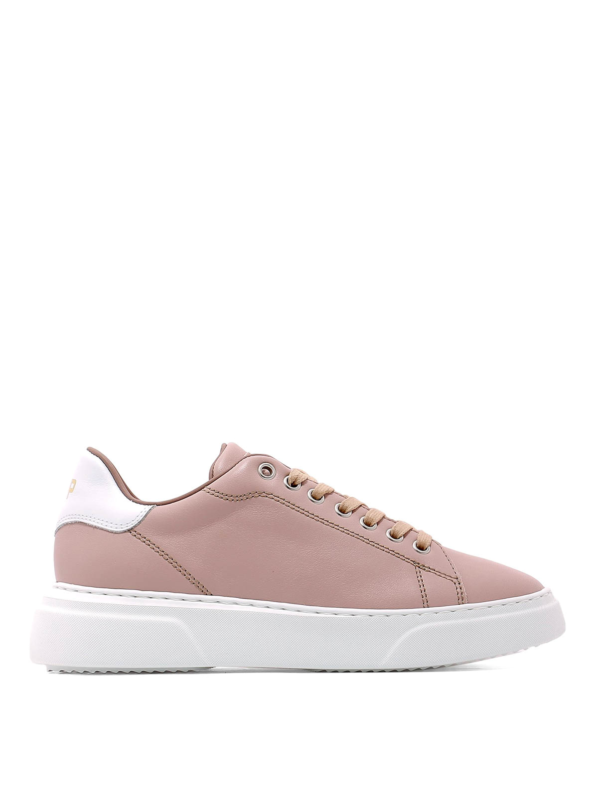 57e6a489c6 Philippe Model - Sneaker Temple in pelle rosa antico - sneakers ...