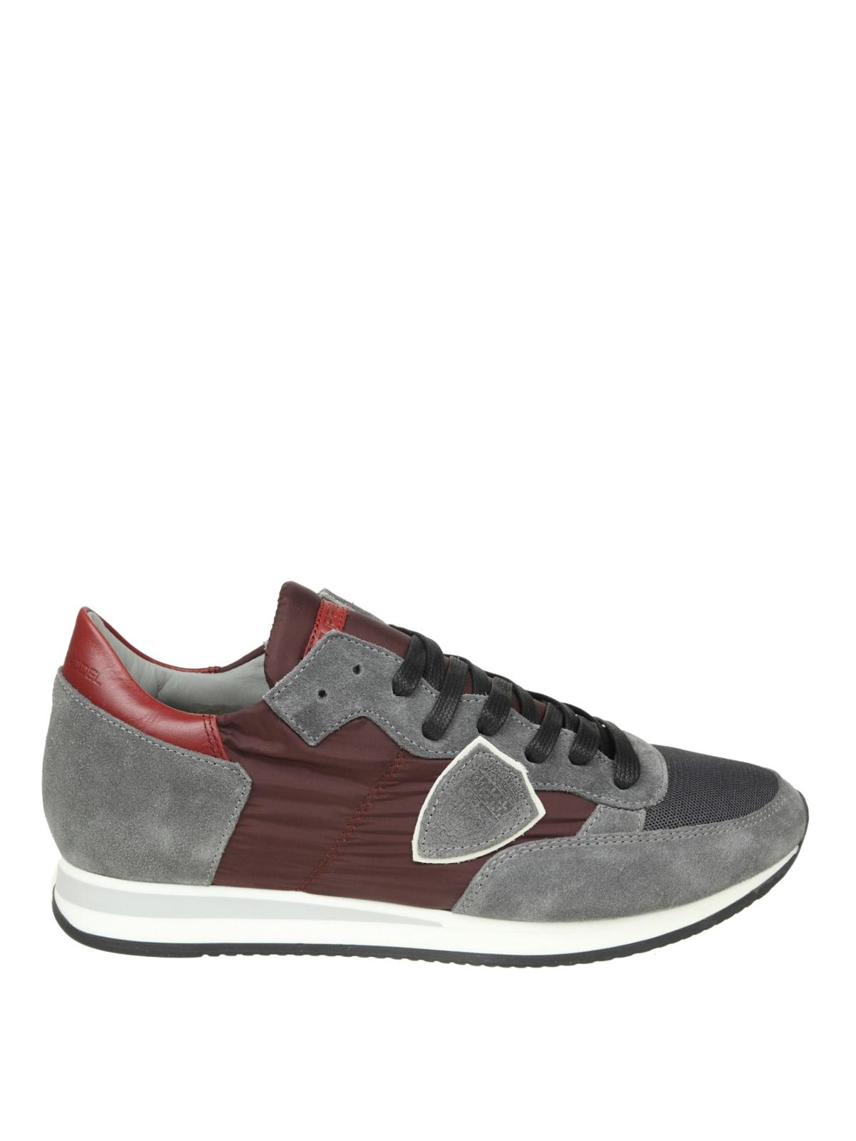 Philippe Model Sneaker Tropez in nylon e camoscio bicolor