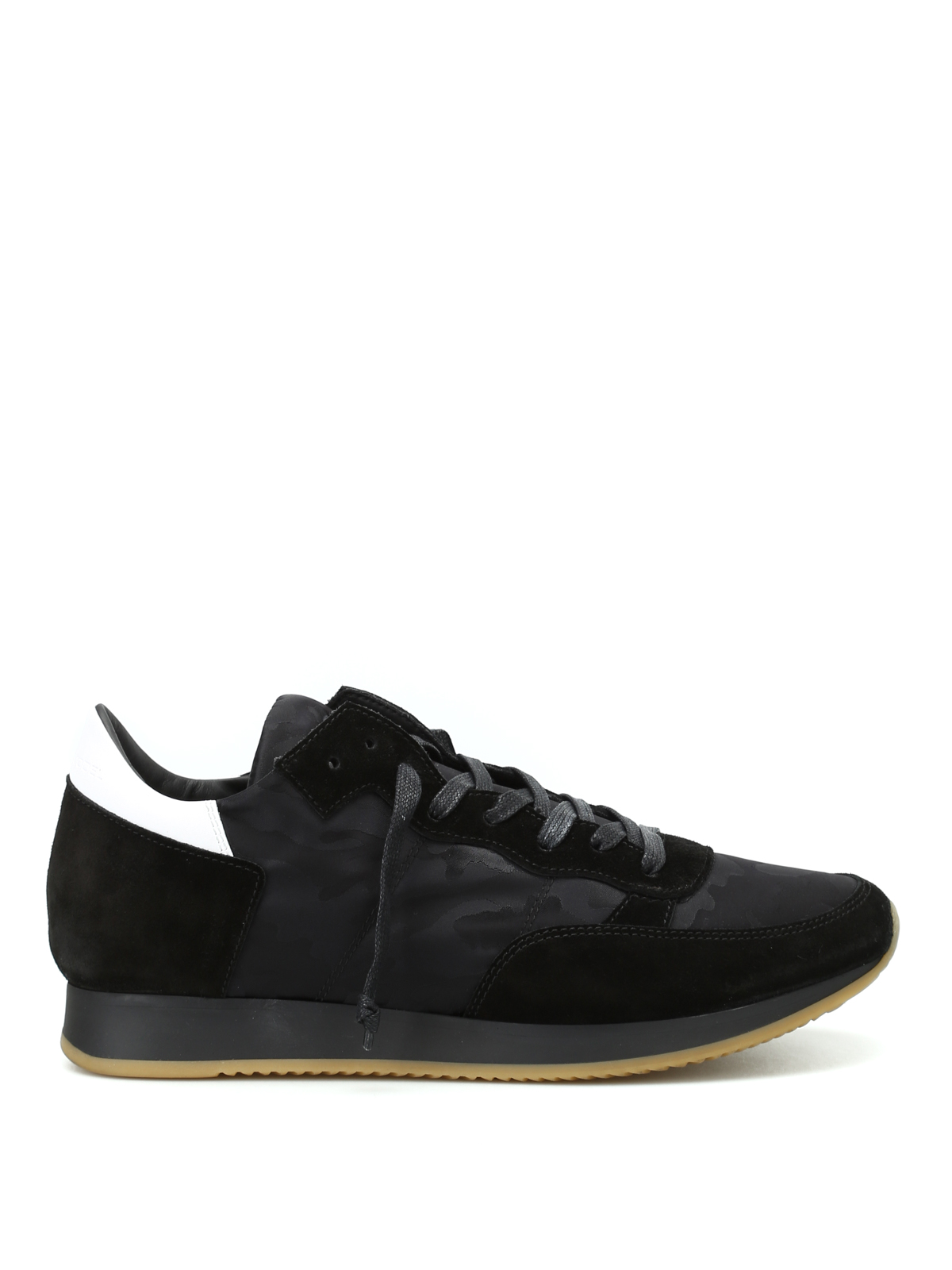 tropez black camu sneakers by philippe model trainers ikrix. Black Bedroom Furniture Sets. Home Design Ideas
