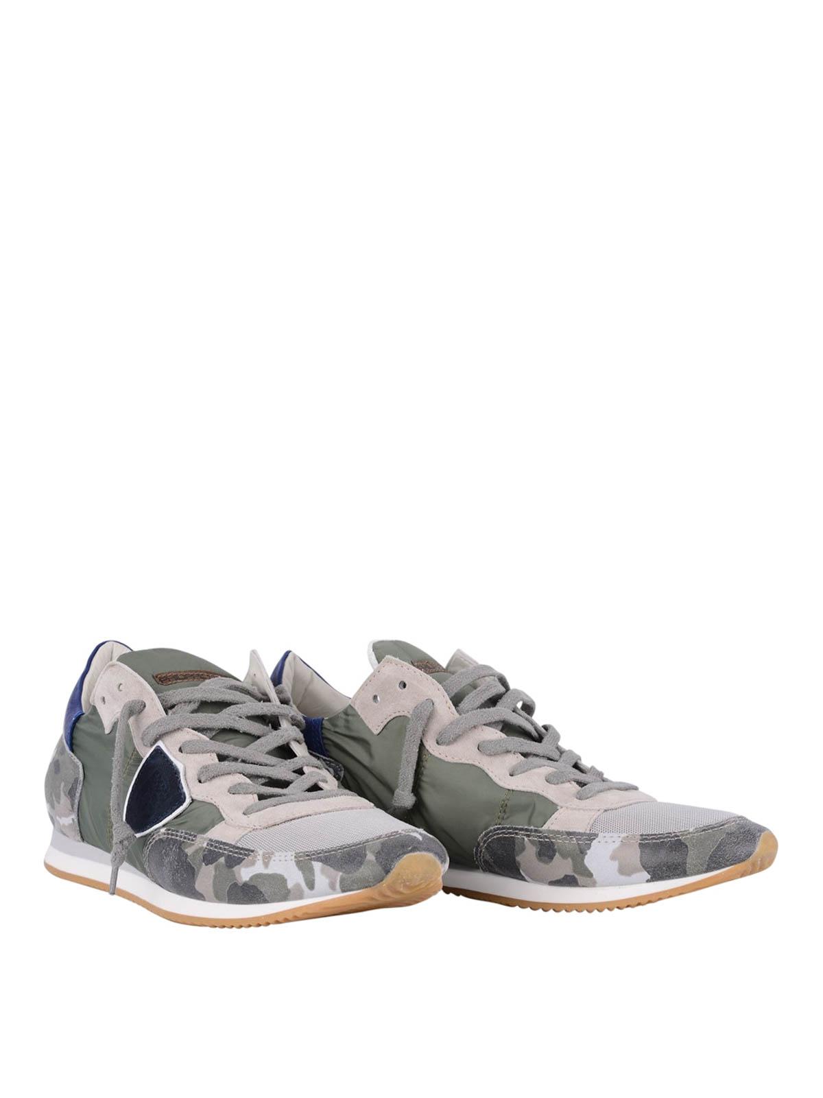 2f02c42254b4 Philippe Model - Tropez camouflage print sneakers - trainers - TRLU CX03