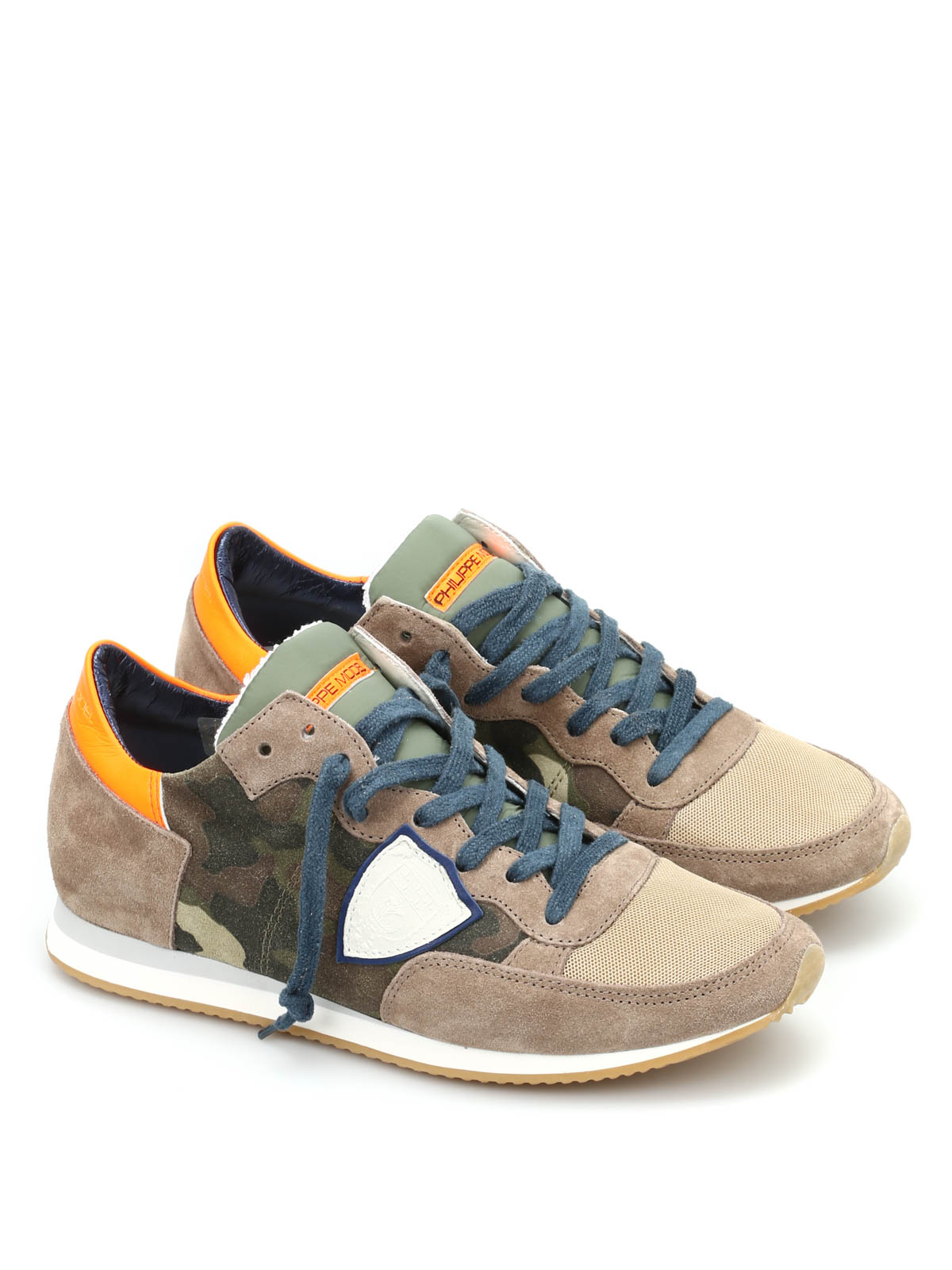 tropez camouflage running sneakers by philippe model trainers ikrix. Black Bedroom Furniture Sets. Home Design Ideas