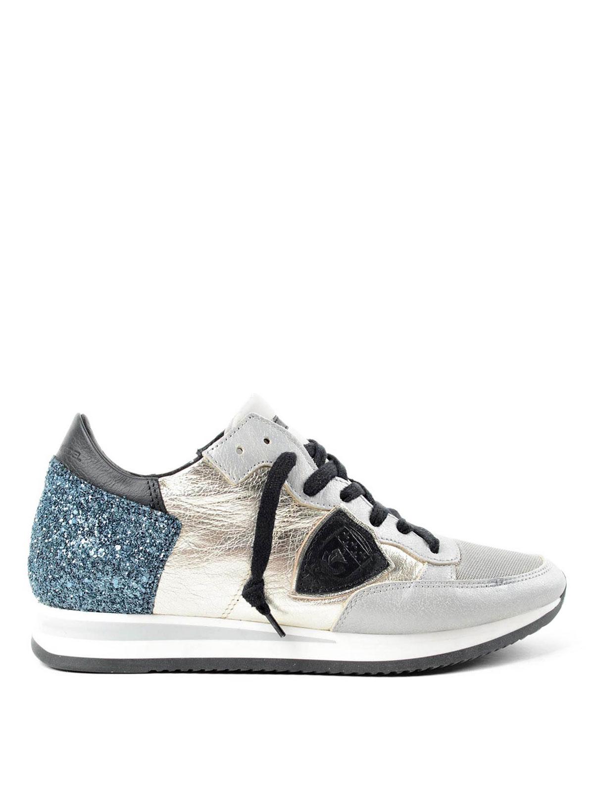 tropez glitter detailed sneakers by philippe model trainers ikrix. Black Bedroom Furniture Sets. Home Design Ideas