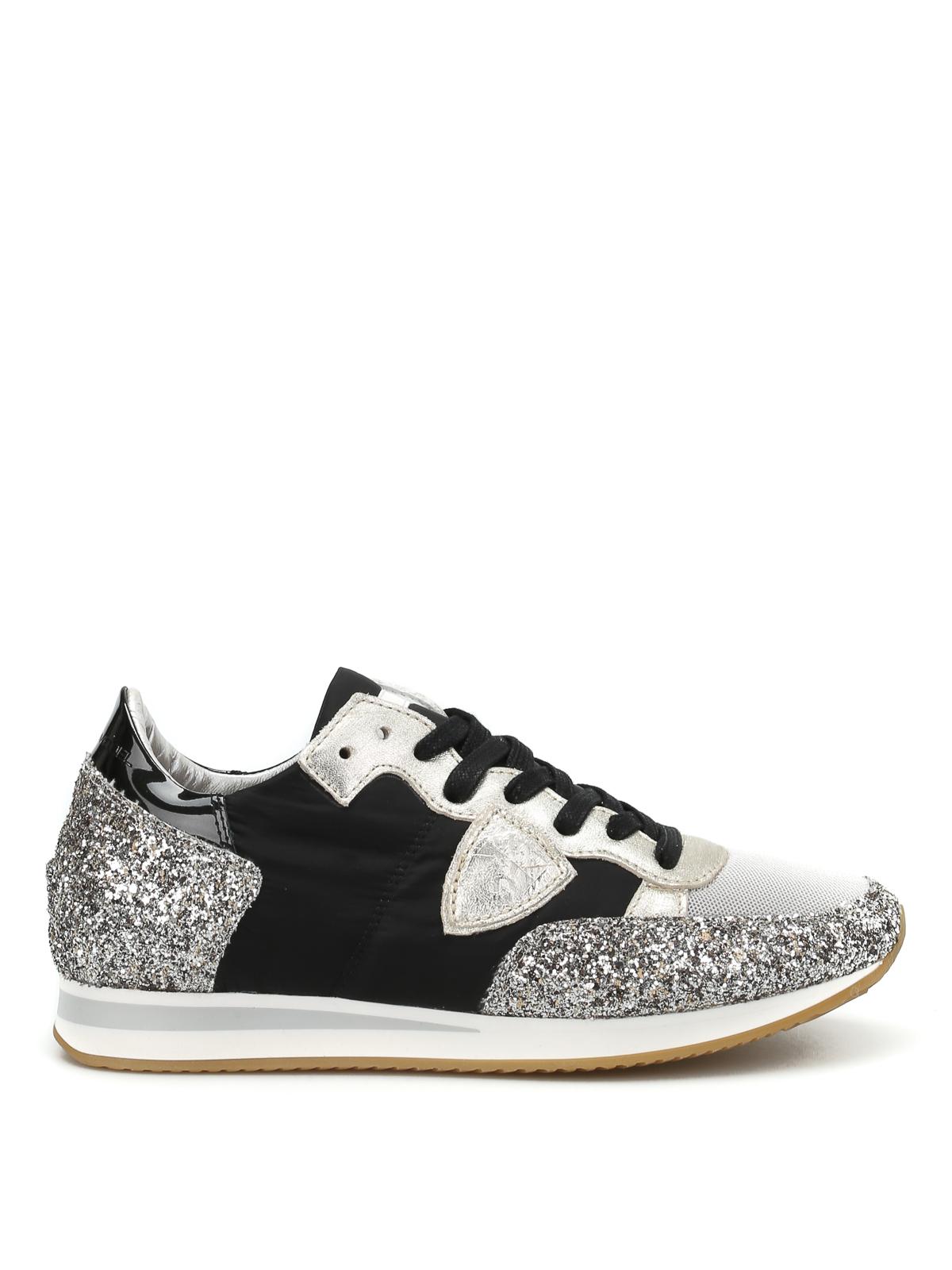 Tropez glitter detailed sneakers