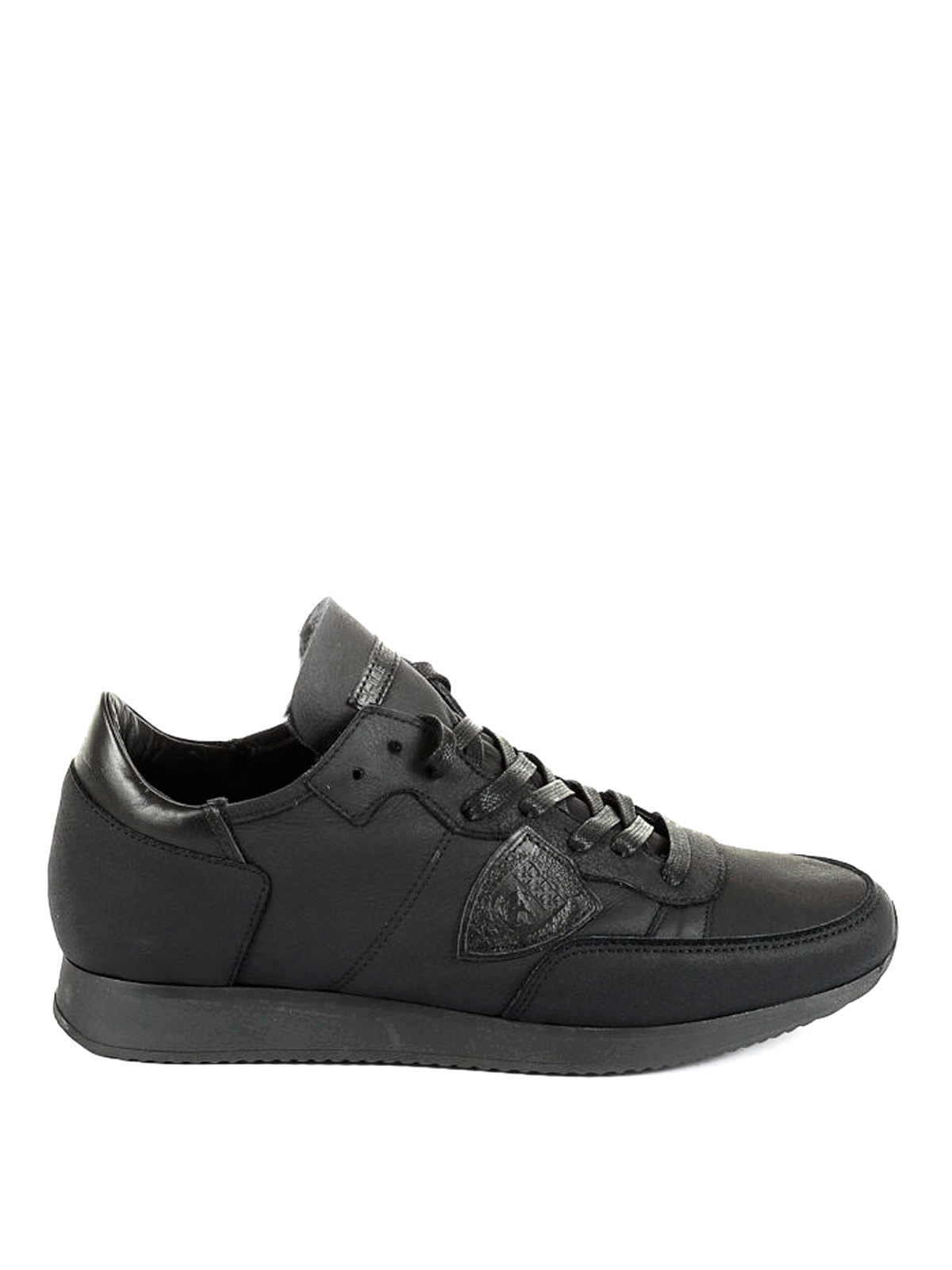 tropez leather low top sneakers by philippe model trainers ikrix. Black Bedroom Furniture Sets. Home Design Ideas