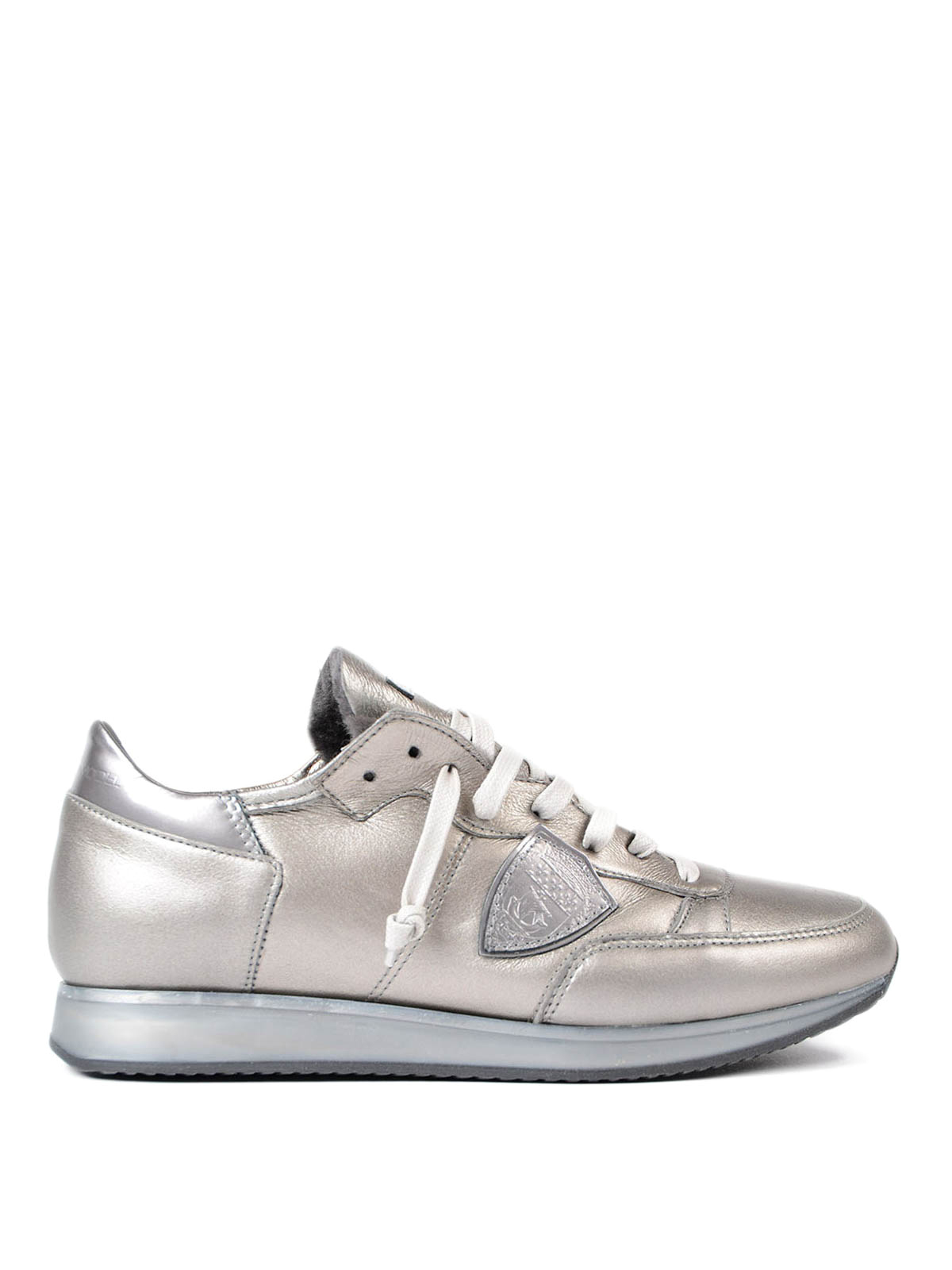 tropez metallic leather sneakers by philippe model trainers ikrix. Black Bedroom Furniture Sets. Home Design Ideas