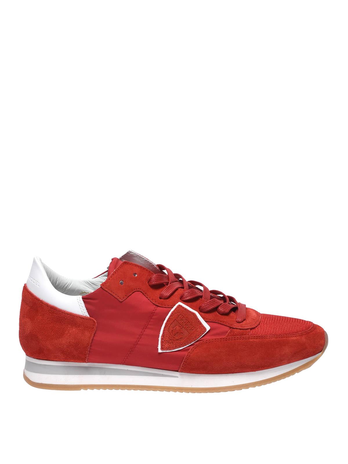 Philippe Model - Sneaker Tropez Mondial basse rosse - sneakers ... 473fbf80fa0