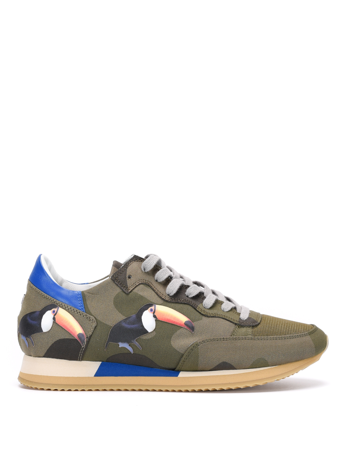 tropez toucan patches sneakers by philippe model trainers ikrix. Black Bedroom Furniture Sets. Home Design Ideas