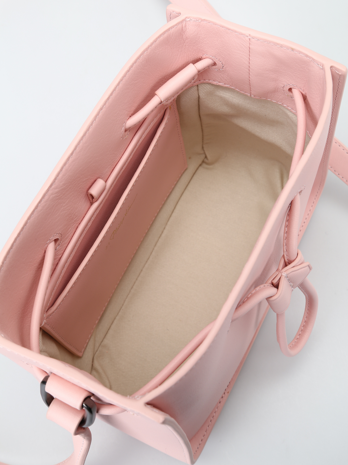 Phillip Lim - Soleil light pink mini bucket bag - Bucket bags ...